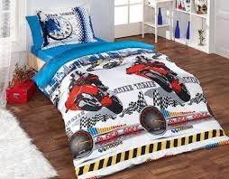 Single Duvet Cover Sets Red Blue Motocross Bedding Twin Single Duvet Cover Set U0026 Flat