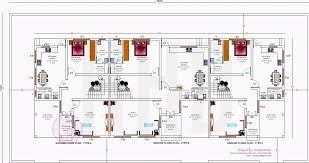 row house floor plan row house design and plans kerala home design and floor plans