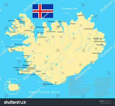6 Flags Map Iceland Map Flag High Detailed Vector Stock Vector 776617321
