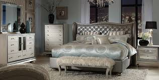 Jane Seymour Furniture Collection Hollywood Swank Michael Amini Hollywood Swank Metallic Graphite Bedroom Set