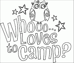 free camping coloring pages coloring home