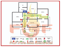 Fire Evacuation Floor Plan Template How To Develop An Emergency Evacuation Map For Your Business