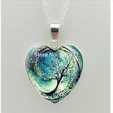 art glass necklace images 2017 new divergent heart necklace divergent tree pendant jewelry jpg
