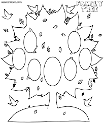 family tree coloring pages funycoloring