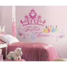 20 ideas of princess crown wall art wall art ideas disney princess crown wall mural stickers girls pink tiara decals intended for princess crown wall art