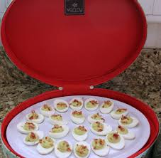 avocado bacon deviled eggs around my family table