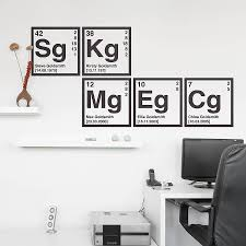 personalised periodic table wall sticker periodic table wall