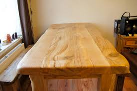 Diy Solid Wood Table Top by The Best Materials Of Wood Desk Tops Homesfeed