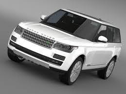 land rover hse white landrover rangerover hse td6 2015 3d model cgtrader