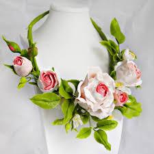 necklace flower handmade images Flower rose necklace handmade custom jewelry oriflowers jpg