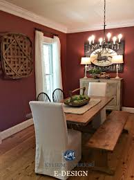 Country Style Chandelier by Benjamin Moore Onondaga Clay Boxcar Red In Farmhouse Country