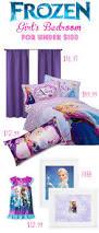 frozen themed u0027s bedroom for under 100 money saving sisters