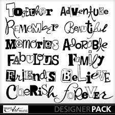 word design digital scrapbooking kits bold words wawbj everyday word