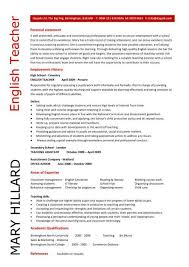Resume  Secondary English Teacher at High School Level