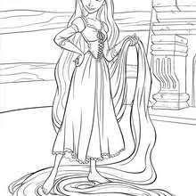 rapunzel coloring pages hellokids