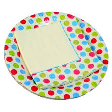 origami paper plate and napkin set 20 pcs printed in