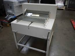 guillotines used finishing machines ideal 6550 paper cutter