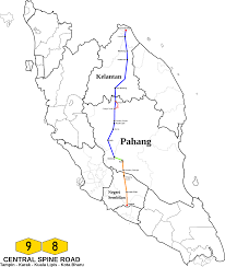 Spine Map Clipart Central Spine Road Malaysia