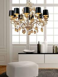 Black Chandelier With Shades 25 Ways To Add Black Lamp Shades And Exclusive Style To Modern