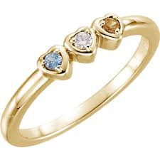 a mothers ring 14k gold 1 to 5 stones s ring