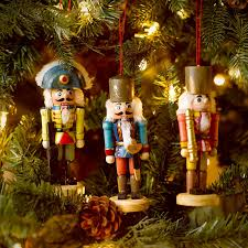 nutcracker ornaments 5 wooden soldier nutcracker ornament set of 3