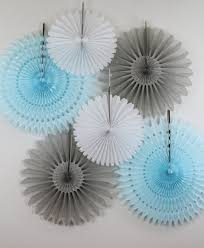tissue paper fans baby shower decorations 6 tissue paper fans decor kit baby