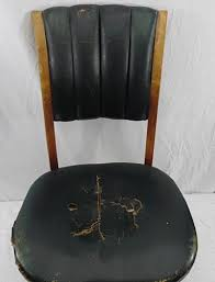 Marble Chair Co Vintage Office Banker Chair Leather Wood B L Marble Chair Co 589