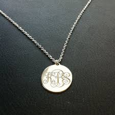 monogram disc necklace best gold monogram disc necklace products on wanelo