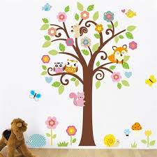 Aliexpresscom  Buy Owls Tree Wall Stickers Kids Gift Playroom - Stickers for kids room