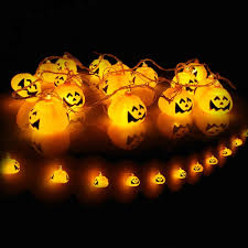 halloween battery powered jack o lantern pumpkin font led string