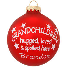 personalized grandchildren hugged ornament family special