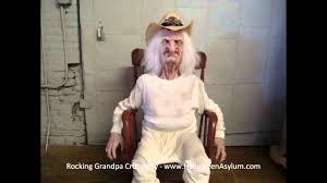 Old Man In Rocking Chair Rocking Grandpa Crotchety Www Halloweenasylum Com Youtube
