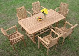 Dining Patio Set - luxurious 7 piece grade a teak dining set teak patio furniture world