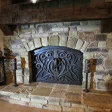 Ideas Fireplace Doors Great Iron Fireplace Doors Ideas Door Stair Design Inside