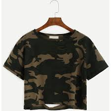 Army Pattern Crop Top | 225 best camouflage fever images on pinterest military fashion