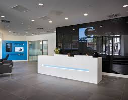 Metal Reception Desk Stunning 3 Form Reception Tags Industrial Reception Desk