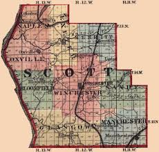 Illinois Township Map by The Burke Family Genealogy Reference