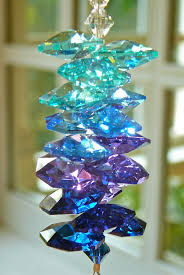 Swarovski Christmas Ball Ornaments 2012 by Swarovski Crystal Suncatcher In Blue Purple And Teal