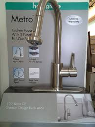 hansgrohe metro kitchen faucet hansgrohe metro e high arc kitchen faucet steel optik finish 1