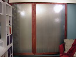 Frosted Closet Sliding Doors How To Make A Regular Door Sliding Build Cabinet Doors Step By