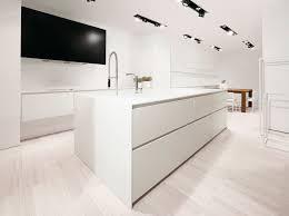 cuisine en corian the cube kitchen by miyo design for nuuun white all corian kitchen