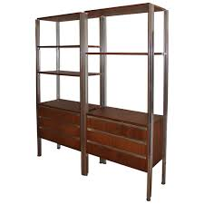 Bookcase Storage Units Pair Of Italian Modern Mid Century Bookcase Storage Wall Units At