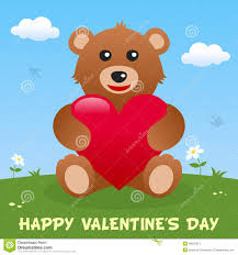 teddy for s day teddy happy s day card stock vector image 48529213