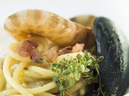 portovenere cuisine seafood spaghetti by chefs at palmaria restaurant