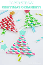 kids decorative paper straw christmas tree ornaments christmas
