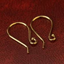 gold simple earrings 14k gold earring top simple ear wire in solid gold designs