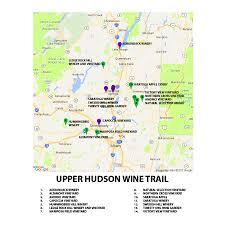 Hummingbird Map Map Of The Upper Hudson Wine Trail Northern Cross Vineyard