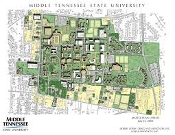 Arizona State University Campus Map by Campus Planning Middle Tennessee State University