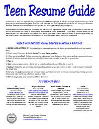 special skills for resume examples super ideas teenage resume examples 7 sample resumes for teenagers enchanting teenage resume examples 14 good for teenager