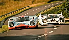 vintage porsche racing porsche 917 count rossi u0027s martini racing and porsche 917 wyer gulf
